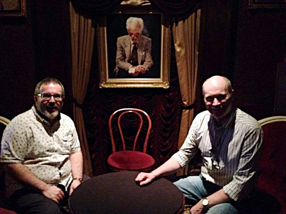 Sitting in the shadow of the great Dai Vernon in The Magic Castle.