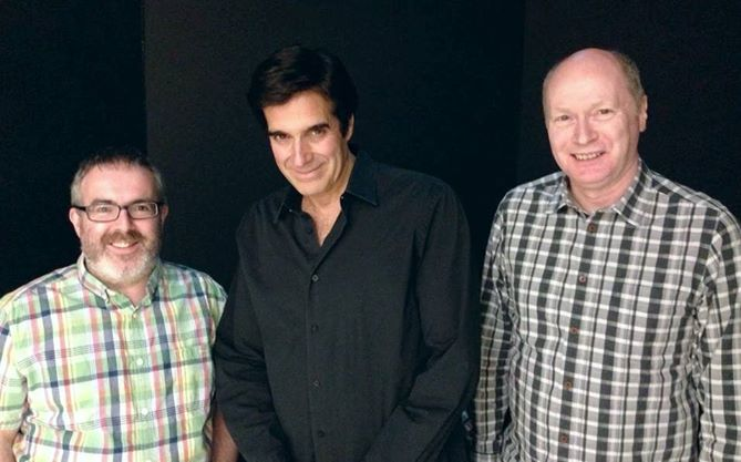 Back stage at the MGM Grand in Las Vegas with David Copperfield after his show.